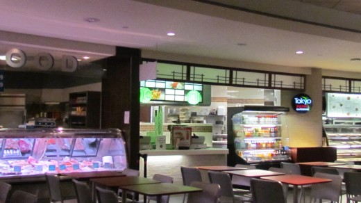 Various restaurants are in the lower level of the Comcast Center in Philadelphia, Pa.