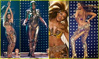 Beyonce's $100,000 leggings and bra. The space suit was extra.