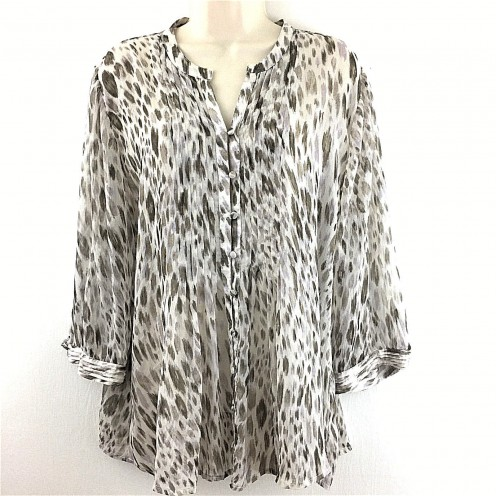 Chicos Animal Print Top