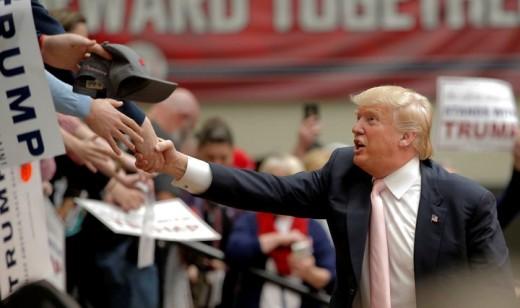 Shaking Trump's Hand