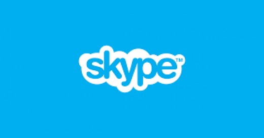 The Logo for Skype when you sign in