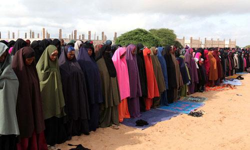 Muslims in Ethiopia praying.