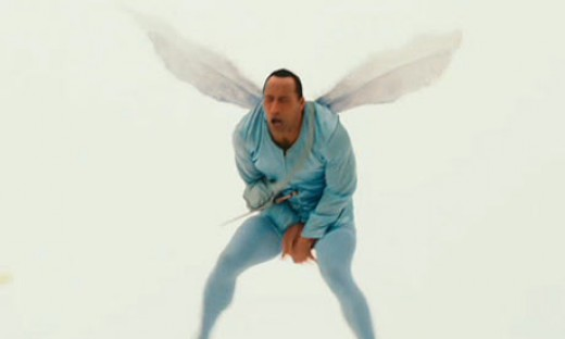 """Dwayne """"The Rock""""  Johnson as the Tooth Fairy"""