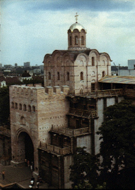The Golden Gate, where Gytha would have had her first sight of Jaroslav's city