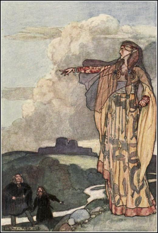 Macha, one aspect of The Morrigan.