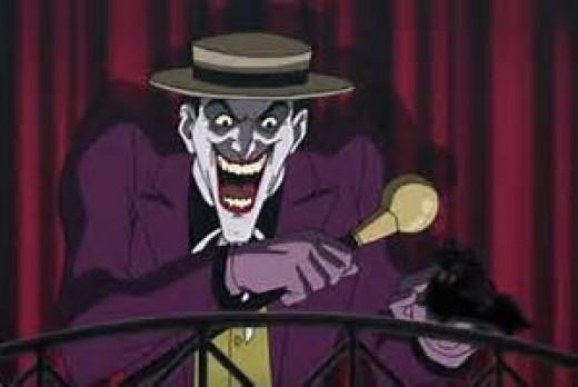 Joker's crazy fun house, courtesy of Warner Bros.