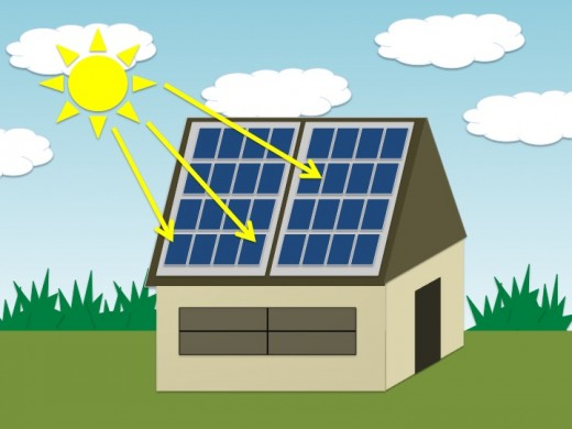 An illustration How the Solar Panels Look like on a House