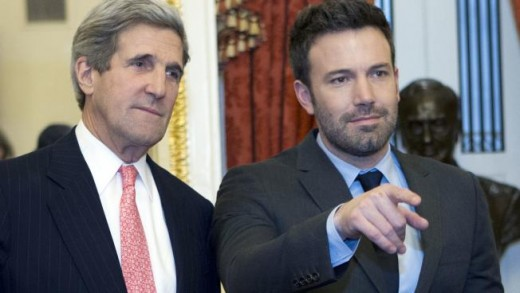 Perfect example of the global elite and establishment: John Kerry, politician and former Secretary of State and Ben Affleck so called movie star.
