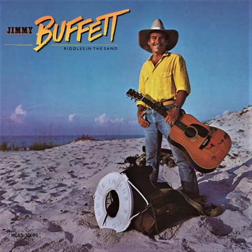 Jimmy Buffett posing for one of his lesser known,  mid-career album covers
