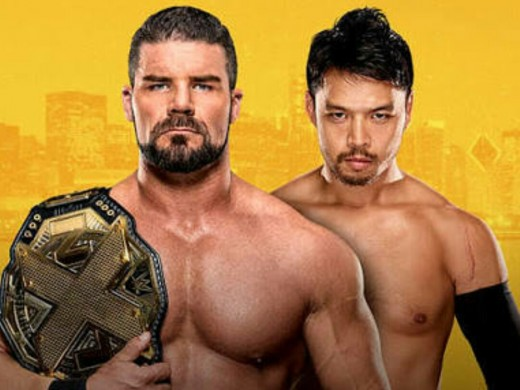 Bobby Roode v Hideo Itami. Image: WWE