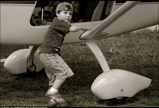 Cool Kid, With Plane
