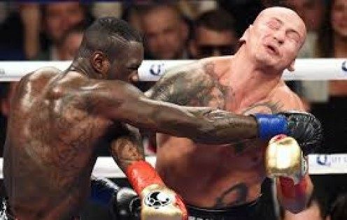 Deontay Wilder defended the WBC title by sending Artur Szpilka to the hospital on a stretcher.