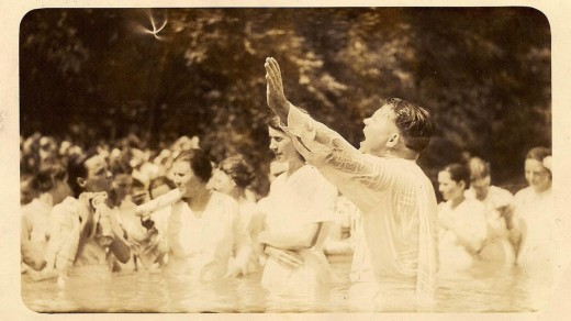 In the old days, we baptized in the nearest stream.