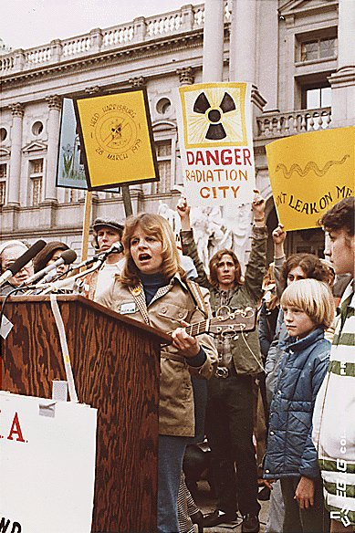 Anti-nuclear rally outside the Pennsylvania State Capitol in Harrisburg, Pennsylvania.