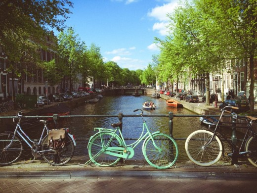 Amsterdam has the 2nd highest number of cyclists of any European city.