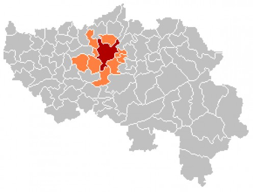 Map location of the Liege area