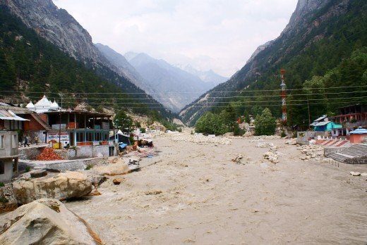 Ganga at Gangotri: Upstream view