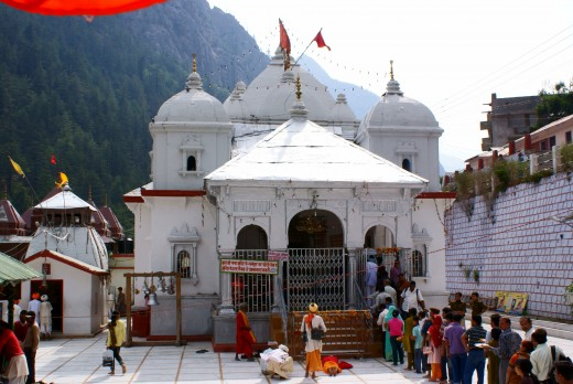 The temple of the Goddess Ganga at Gangotri