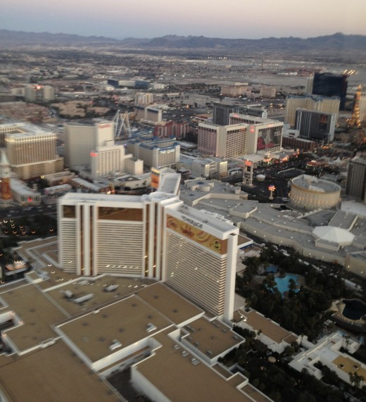 I love getting the birds eye view of Las Vegas.