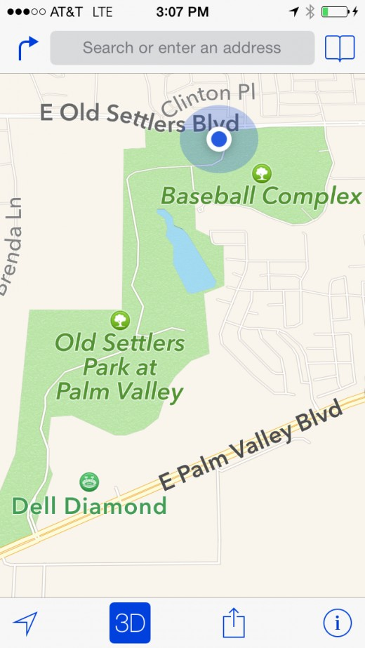 Map of Old Setters Park