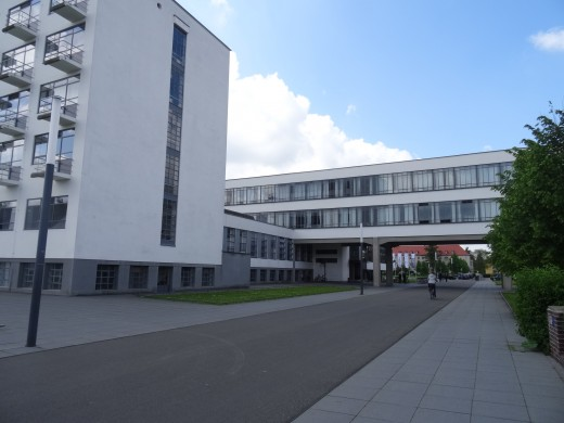 Originally the School of architecture, designed by Gropius 1925-26. Now a museum, restaurant and apartments.