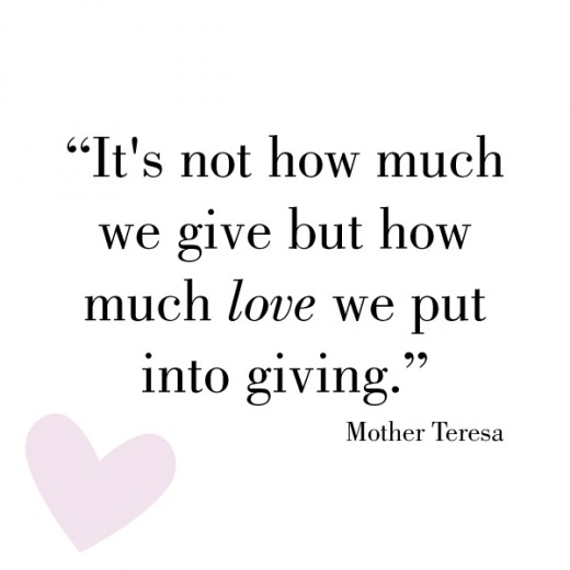 This is a perfect giving quote