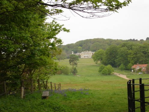 A view of Sheringham Hall at Sheringham Park, Norfolk