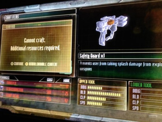 Dead Space 3 is a survival horror game in which you can purchase items that negate the two tags in its genre.