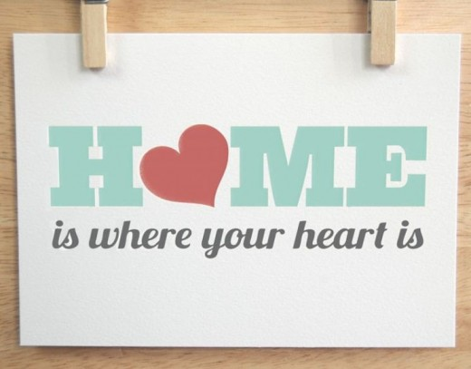Home is where the heart is  in written form