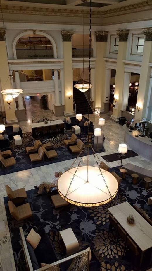 Diane's photo of the Westin Lobby.