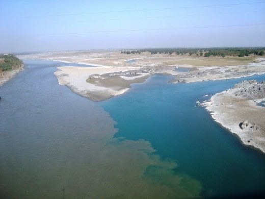 Confluence of the two rivers - Kabul and Indus.
