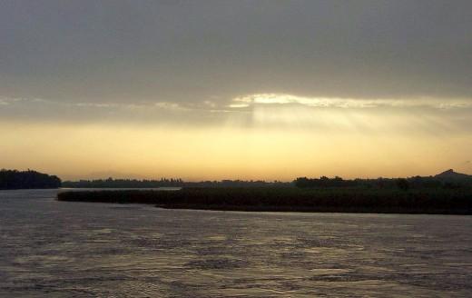River Kabul as it flows through Nowshera.