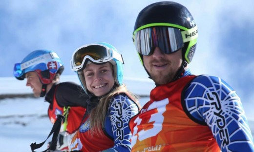 Foreign skiers at Malam Jabba.