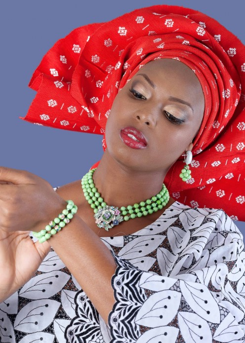Yoruba Woman in Tradional Cloths