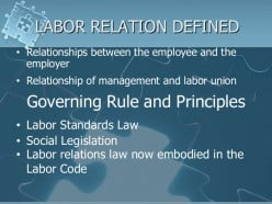 Summary of Labor Relations Principles