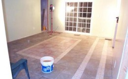 A grouting job in progress