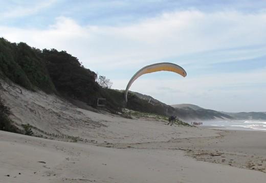 Hang Gliding along the beach