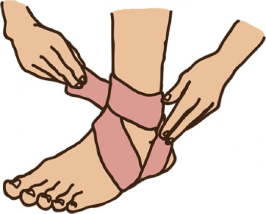 Sports related injury that you use a tensor bandage for