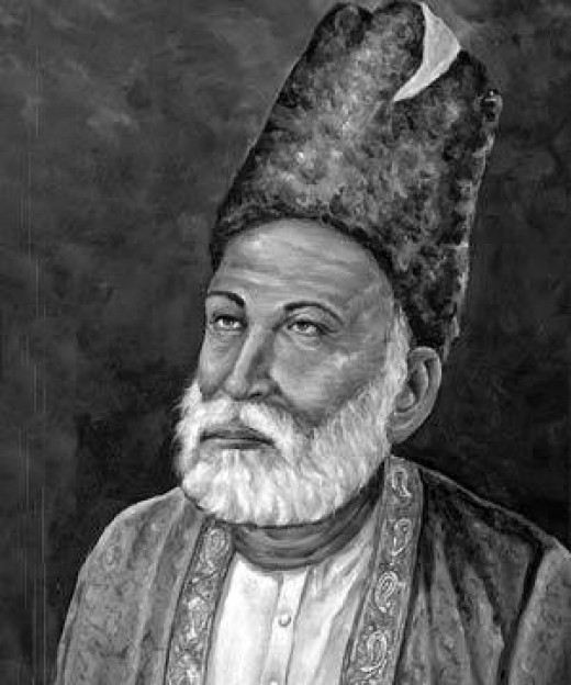 The renowned poet Mirza Ghalib