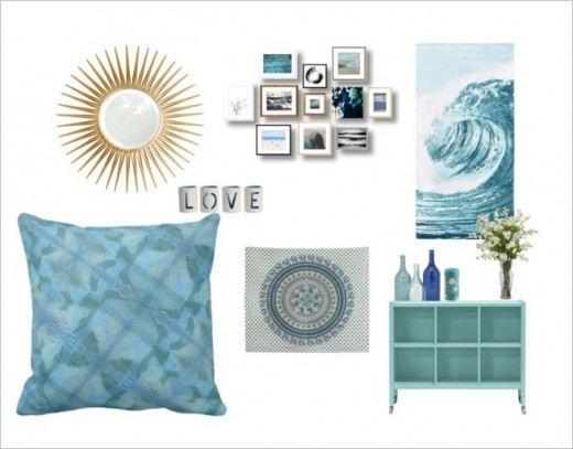 cool blue home decor