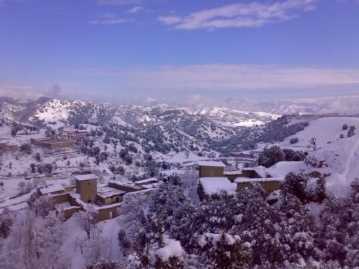 Razmak valley in winters. Although South Waziristan isn't included in KPK, it may be merged into it soon.