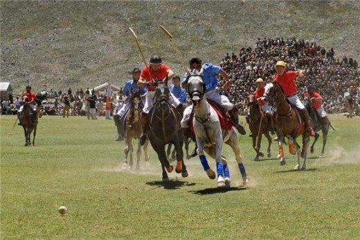 The three-day Shandur polo festival is held at the world's highest polo ground located at a height of 3,734 metres above sea level.
