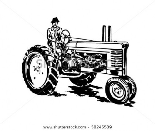 A version of the early modern tractor.