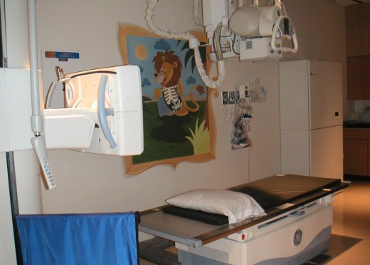 Is the X-ray area child-friendly? Are the floors and area clean and orderly?