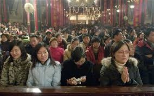 China is a predominately atheist country but they do have some of all religions scattered around the country.