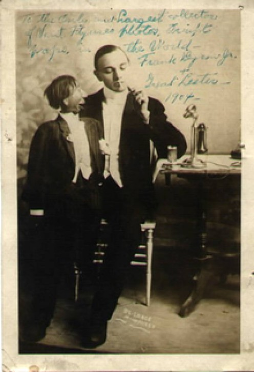 Ventriloquist The  Great Lester with  Frank Byron Jr c. 1904.