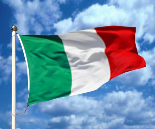 This is the Italian Flag that represents Italians