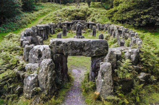 The ancient stone circles throughout Europe could've been places where the land spirits were honored by the Celts. This particular stone circle is a mimicry of the ancient ones made by William Danby in the 1800s.