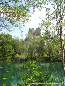 Old citadel (fort) on the small island in the river - from Middle age - river Zrmanja, photo by Tatjana-Mihaela