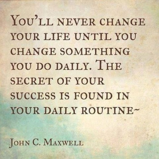 A great quote about changing up your routine